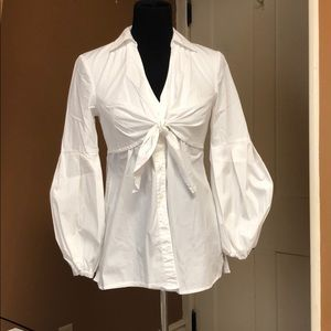 Long sleeve button down white
